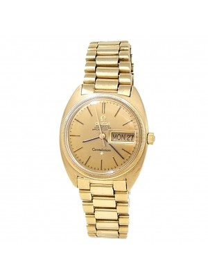 Omega Vintage Constellation Day-Date 18k Yellow Gold Auto Champagne Men's Watch