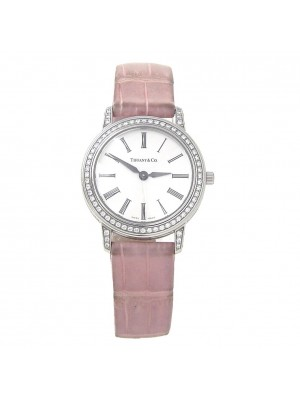Tiffany & Co Mark Round Platinum Swiss Quartz Diamond Ladies Watch
