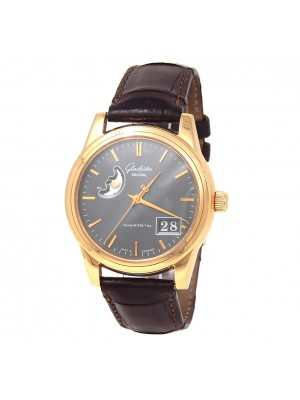 Glashutte Senator Panorama Date Moon Phase 18K Rose Gold Automatic Men's Watch