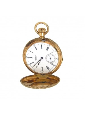 Henry Capt Geneve Gold 18k Yellow Gold Pocket Watch