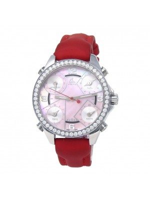 Jacob & Co Five Time Zone Stainless Steel Quartz Ladies Watch