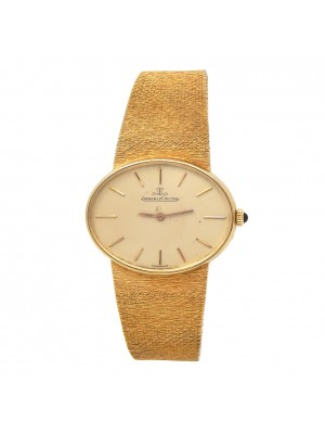 Jaeger-LeCoultre Vintage Oval 18k Yellow Gold Manual Men's Watch