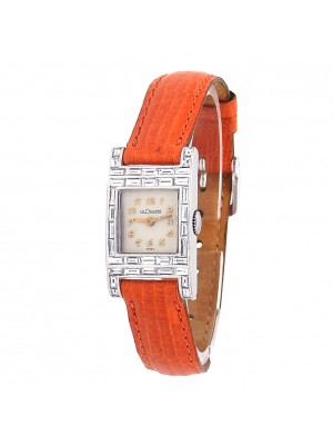 Jaeger LeCoultre Vintage 18k White Gold Quartz Ladies Watch