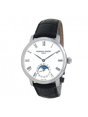 Frederique Constant Slimline Moonphase Steel Automatic Men's Watch FC-705WR4S6