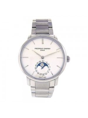 Frederique Constant Slimline Moonphase S.Steel Automatic Mens Watch FC705X4S45/6