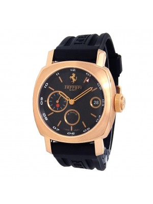 Panerai Ferrari Granturismo 18k Rose Gold Automatic Black Men's Watch FER00007
