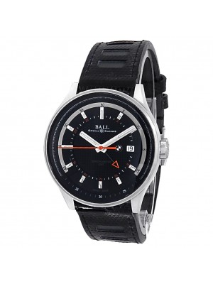 Ball BMW GMT Stainless Steel Rubber Automatic Black Men's Watch GM3010C-PCFJ-BK