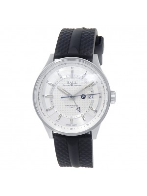Ball BMW GMT Stainless Steel Rubber Automatic Silver Men's Watch GM3010C-PCFJ-SL