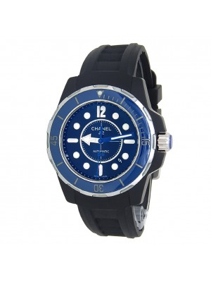 Chanel J12 Marine Black Ceramic Rubber Automatic Black Men's Watch H2559