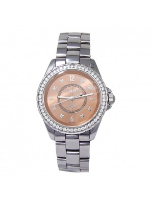 Chanel J12 Chromatic Titanium Diamond Bezel Automatic Ladies Watch H2564