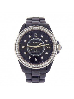 Chanel J12 Black Ceramic Case and Band Automatic Ladies Watch H3109