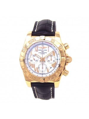 Breitling Chronomat 18k Rose Gold Automatic Chronograph Men's Watch HB0110