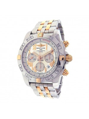 Breitling Chronomat IB0110 Stainless Steel & 18k Yellow Gold Chronograph Automatic White Men's Watch