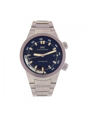 IWC Aquatimer Stainless Steel Black Dial Date Display Automatic Watch IW354805