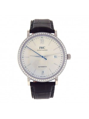 IWC Portofino Automatic White Gold Diamond Bezel Automatic Men's Watch IW356514
