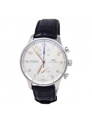 IWC Portuguese Chronograph Stainless Steel Automatic Men's Watch IW371445