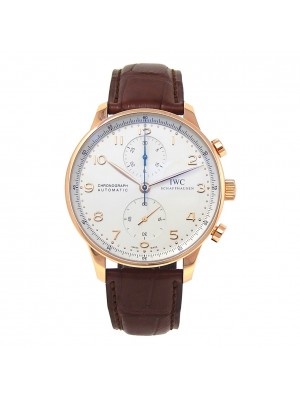 IWC Portuguese Chronograph 18k Rose Gold Automatic Men's Watch IW371480