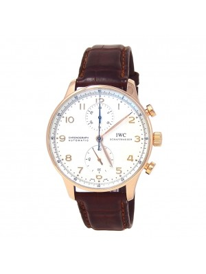 IWC Portuguese 18k Rose Gold Automatic Chronograph Men's Watch IW371480