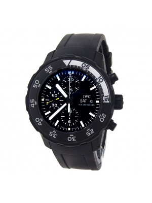 IWC Aquatimer Black PVD Stainless Steel Automatic Mens Watch IW376705