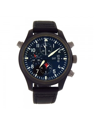 IWC Pilot Chronograph Top Gun Black Ceramic Automatic Men's Watch IW379901
