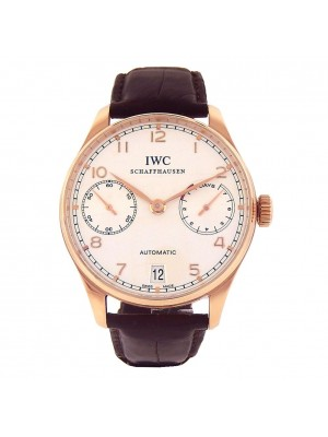 IWC Portuguese 18k Rose Gold Power Reserve Automatic Men's Watch IW500113