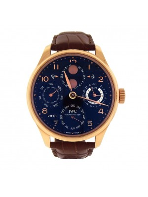 IWC Portuguese Perpetual Calendar 18K Rose Gold Automatic Men's Watch IW503202