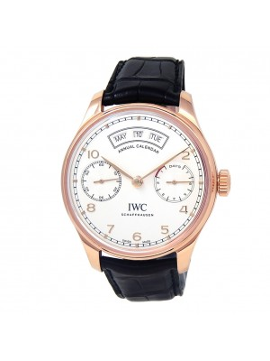 IWC Portugieser Annual Calendar 18k Rose Gold Men's Watch Automatic IW503504