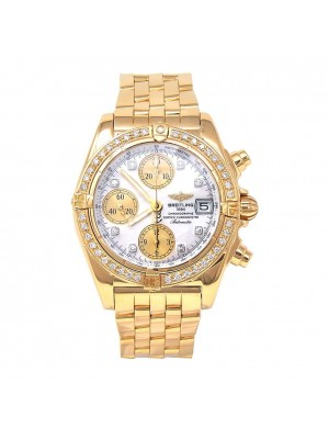 Breitling Cockpit 18k Yellow Gold Automatic Chronograph Men's Watch K13357