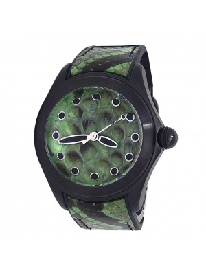 Corum Bubble 42 Green Python Black PVD Stainless Steel Automatic L082/02996
