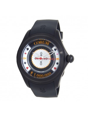 Corum Bubble Casino Chips Black PVD Stainless Steel Automatic L082/02999