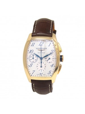 Longines Evidenza 18k Yellow Gold Automatic Chronograph Men's Watch L2.643.6.732