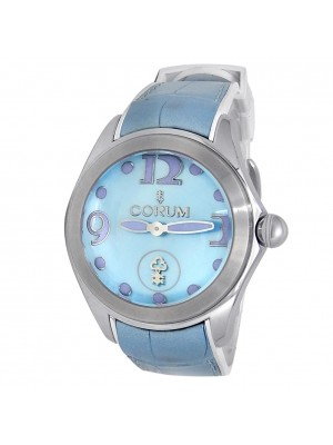 Corum Bubble Stainless Steel Auto Blue Mother of Pearl Men's Watch L295/03047