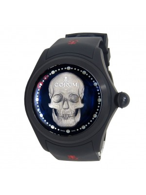 Corum Big Bubble Magical 52mm 3D Skull Black PVD Titanium Automatic L390/03337