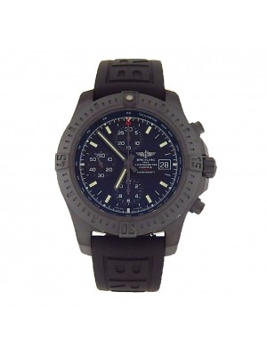 New Men's Breitling Colt M13388 All Black PVD Automatic Chronograph Sport Watch!