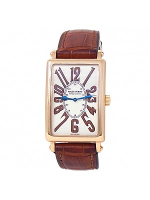 Roger Dubuis Much More 18k Rose Gold Brown Leather Manual White Men's Watch