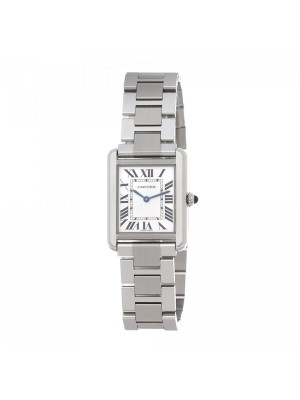 Cartier Tank Solo Stainless Steel Quartz Ladies Watch W5200013