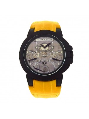 Harry Winston Ocean Triple Retrograde OCEACT44ZZ00 Zalium Yellow Ruthenium Watch
