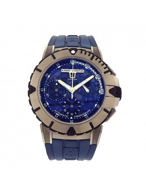 Harry Winston Ocean Sport Chrono Blue OCSACH44ZZ00 Zalium Rubber Auto Blue Watch