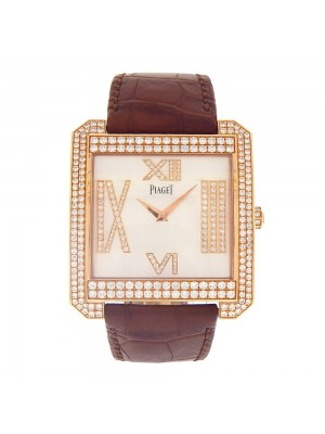 Piaget Square 18k Rose Gold Hand Winding Ladies Watch P10551