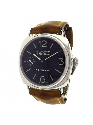 Panerai Radiomir Black Seal PAM00183 Steel Brown Leather Manual Black Men Watch