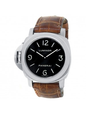 Panerai Luminor Base Left-Handed Stainless Steel Leather Black Watch PAM00219