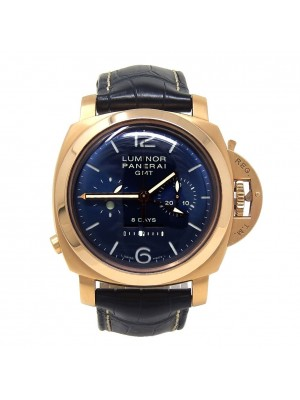 Panerai Luminor 1950 8 Days 18k Yellow Gold Mechanical GMT Men's Watch PAM00277