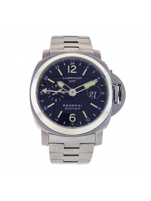 Men Panerai Luminor PAM00297 GMT Automatic self winding Black Dial Sport Watch