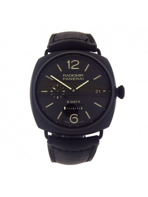 Panerai Historic Radiomir 8 Days Black Ceramic Manual Wind Men's Watch PAM00384