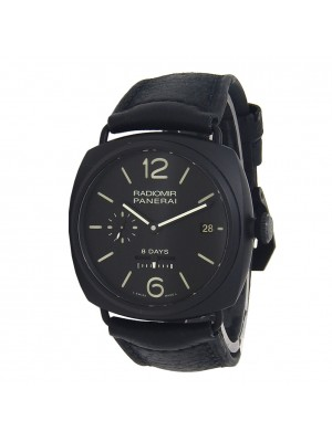 Panerai Historic Radiomir 8 Days Black Ceramic Manual Mens Watch PAM00384