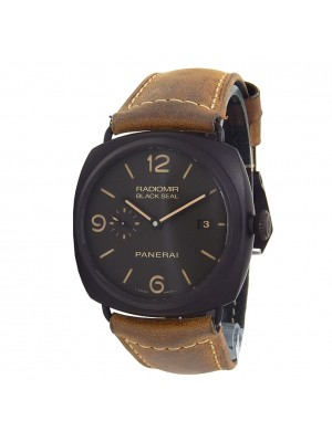 Panerai Radiomir Black Seal Ceramic Leather Automatic Black Men's Watch PAM00505