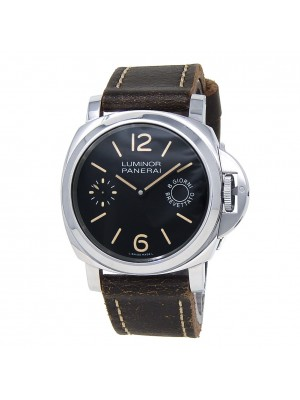Panerai Luminor Marina Stainless Steel Leather Manual Black Men's Watch PAM00590
