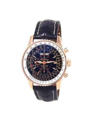 Breitling Navitimer Montbrillant Datora 18k Rose Gold Automatic Watch R21330