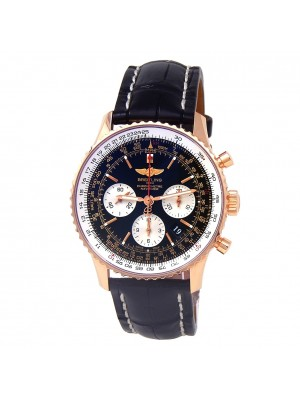 Breitling Navitimer 18k Rose Gold Men's Watch Automatic RB0120