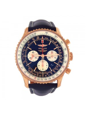 Breitling Navitimer 01 18k Rose Gold Automatic Chronograph Men's Watch - RB0127